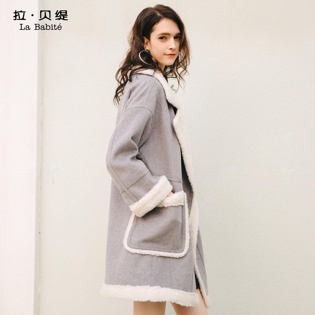 羊羔毛外套2017秋冬季新款韩版原宿风学生中长款羊毛呢子大衣女装