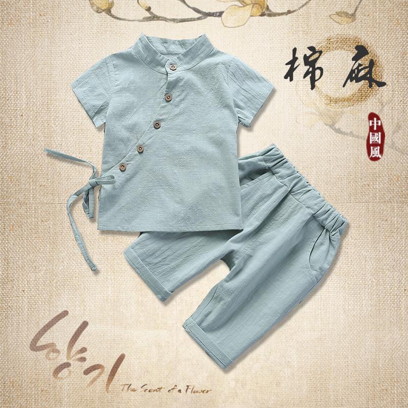 宝宝童装小女孩两件套夏季夏装儿童女童短袖男童套装