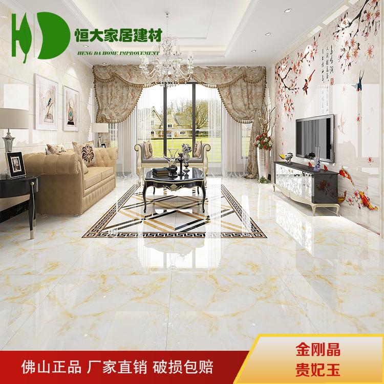 客厅卧室背景墙瓷砖防滑耐磨 800x800 佛山瓷砖金刚晶全抛釉地砖
