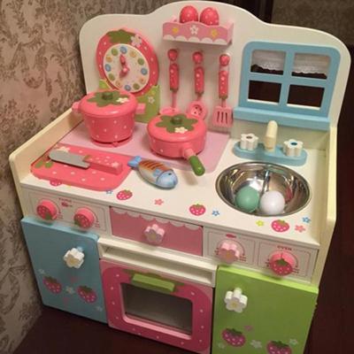木制宝宝儿童厨房玩具厨具套装水果切切仿真过家家女孩做饭玩具