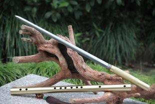 未开刃龙泉剑硬剑镇宅笛子剑金钢棍棒花纹钢全铜健身笛剑箫剑笛子