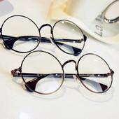 韩国平光眼镜女潮男复古圆框防辐射近视镜超轻全框眼镜架圆脸舒适