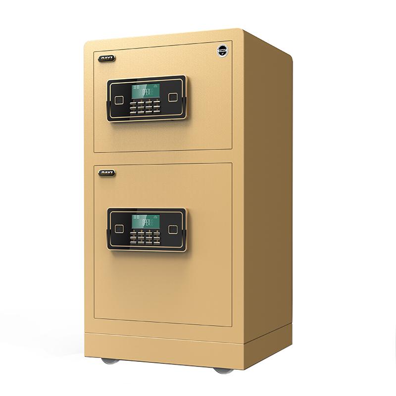 双门指纹防盗保险箱全钢双层 米 1.2 米 1 80cm 大一保险柜家用办公