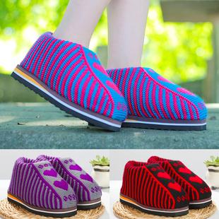 手工毛线编织拖鞋