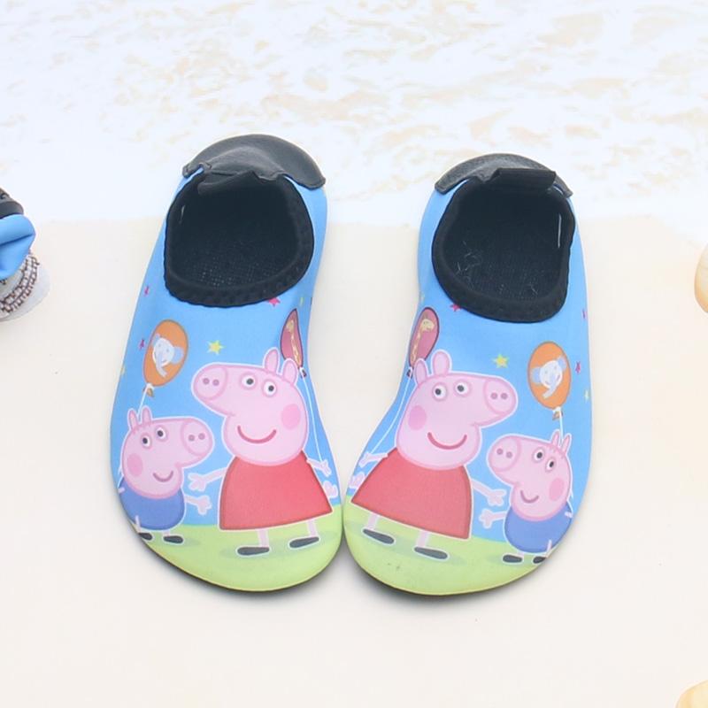 空调袜夏季儿童沙滩袜游泳鞋防滑浮潜涉水鞋男女宝宝赤足地板软鞋