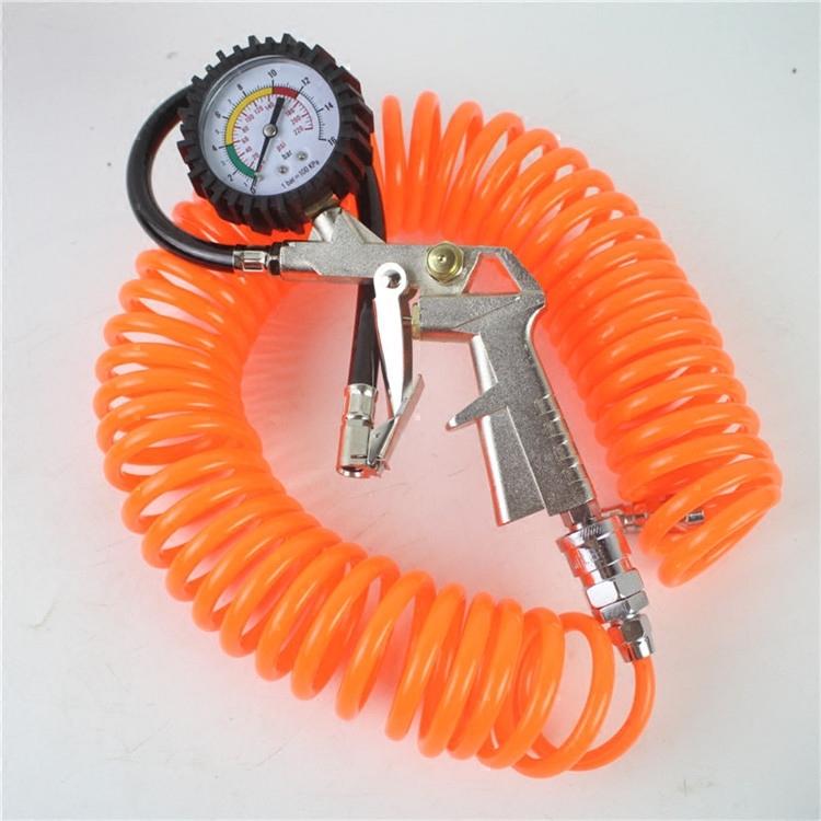 包邮带枪胎压表胎压监测仪多功能胎压计充气枪油表防震数显打气表