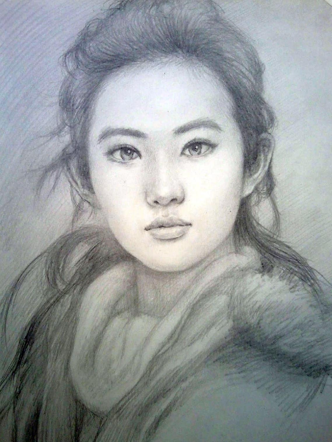 肖像画定制 人物画像定做 手绘素描肖像定做 素