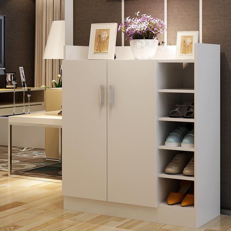 简约现代2门组装鞋柜宜家玄关柜实木质储物柜创意