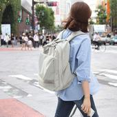 茜妃雅多功能旅行包女士书包外出旅游收纳包防水背包电脑包双肩包