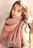 2017冬季羊毛围巾女士 百搭纯色欧美加厚羊羔毛 羊绒长款披肩两用