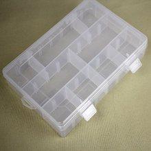 透明塑料扣子收纳盒 工具盒8 首饰盒 24格 针线盒 纽扣收纳盒