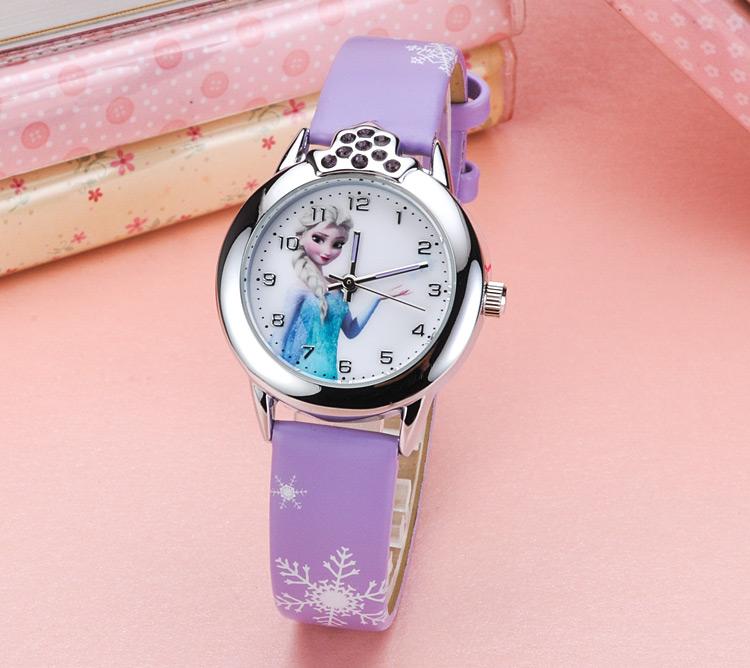 冰雪奇缘儿童手表女孩电子防水表韩国可爱白雪公主卡通学生石英表