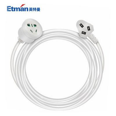 英特曼10A三芯插头电源插座延长线1/3/5/8/10米拖线板接线板插排