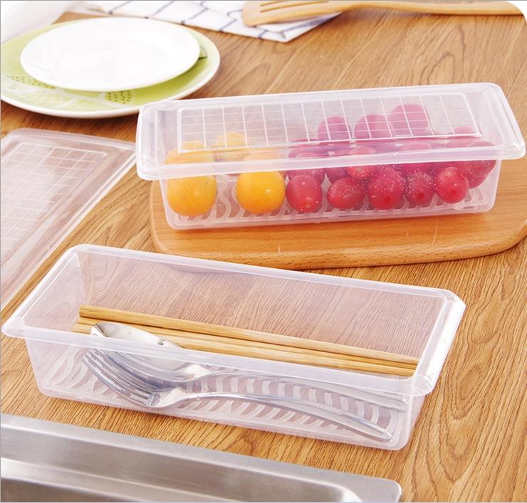 创意生鲜鱼肉沥水保鲜盒厨房收纳盒冰箱食物沥水盒水果蔬菜储存盒