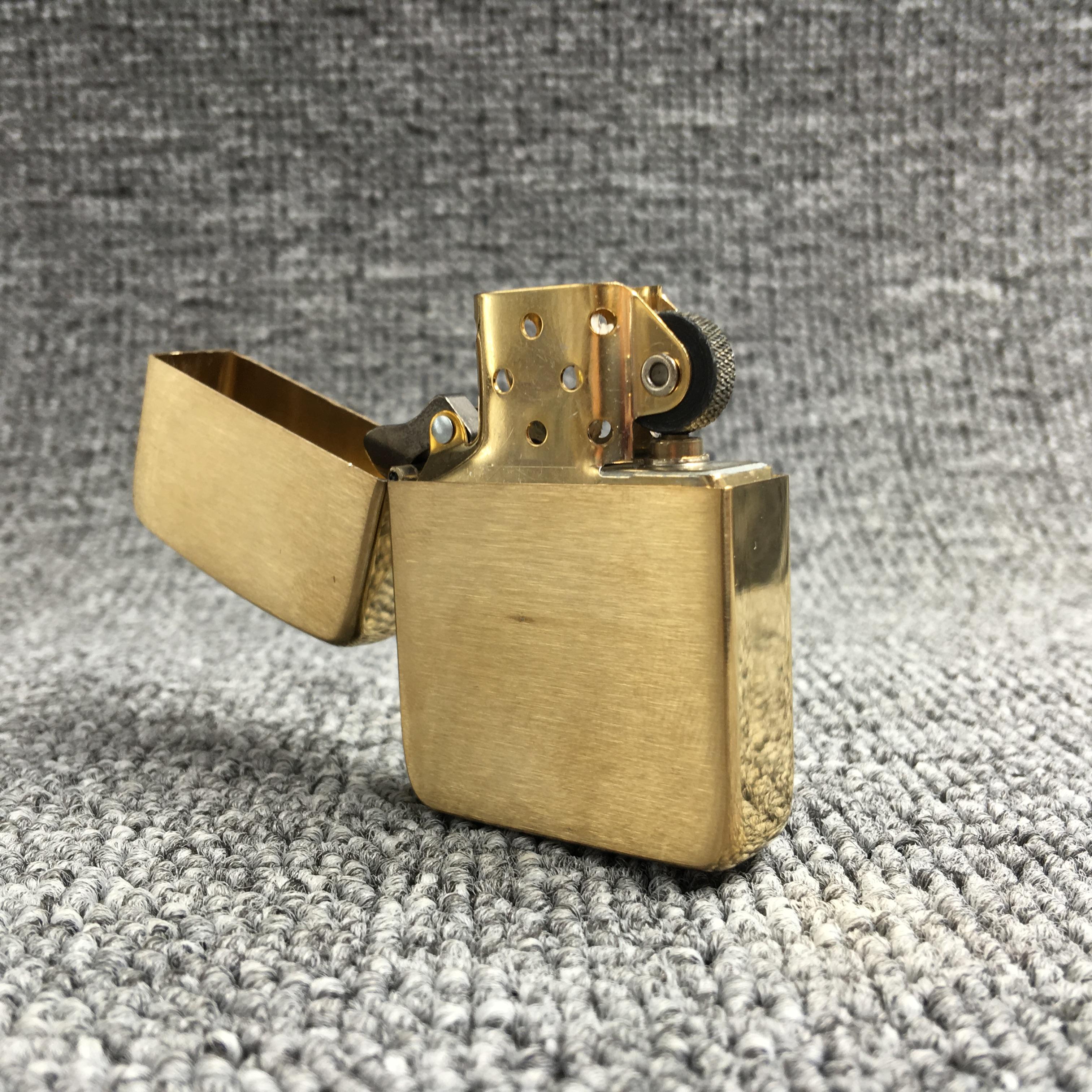 zippo打火机原装正品纯铜复刻版1941B二战拉丝光板煤油打火机包邮