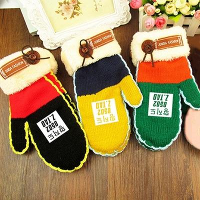 黄子韬彩虹手套女秋冬季韩版仿羊绒羊毛针织手套保暖加厚款