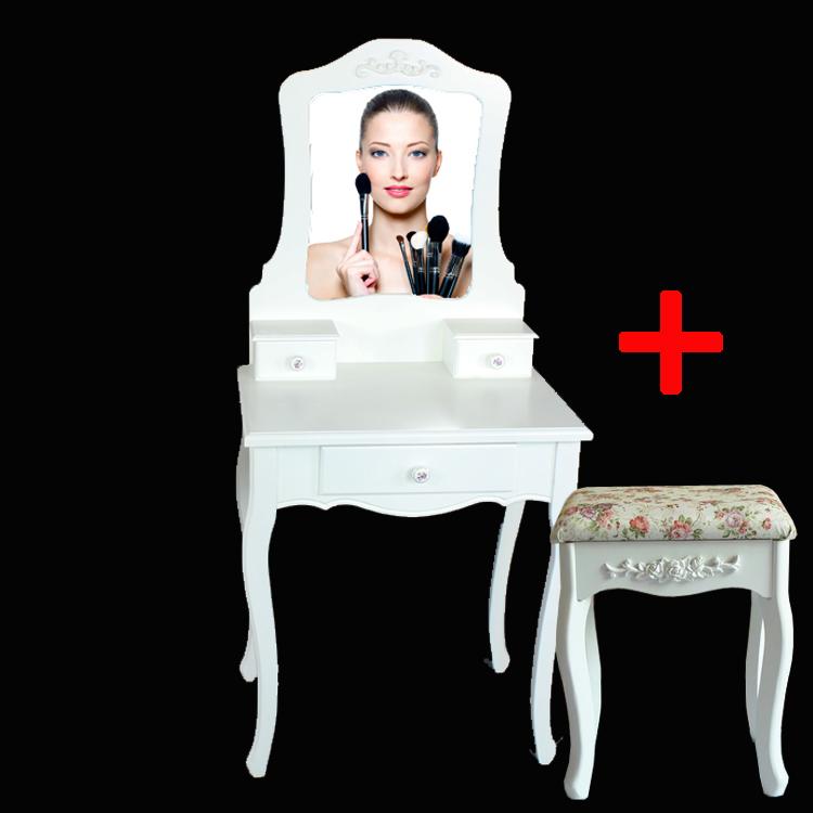 户型简约现代化妆台韩欧式简易卧室梳妆台60cm化妆桌