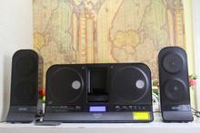 德国LIDL多媒体笔记本电脑有源音箱CD组合遥控教学胎教放碟机音响