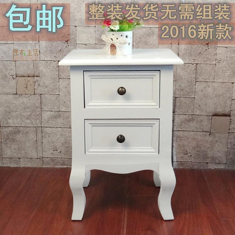 欧式田园床头柜迷你白色小户型现代简约收纳柜实木储