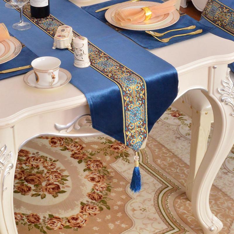 欧式美式桌旗高档奢华餐桌茶旗茶几桌旗定制包邮新古典现代桌布