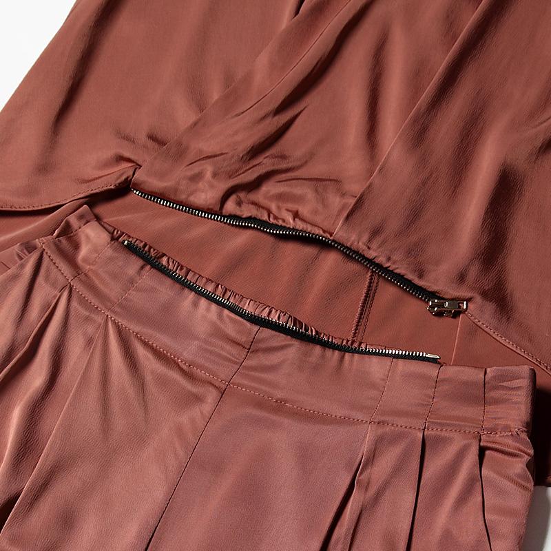 罗丝·麦克莱弗(Rose McIver)同款咖色无袖连体长裤