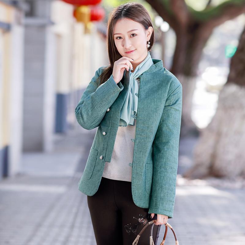 伶俐柠檬90521复古中国风原创民族风文艺范冬装女装棉衣现货
