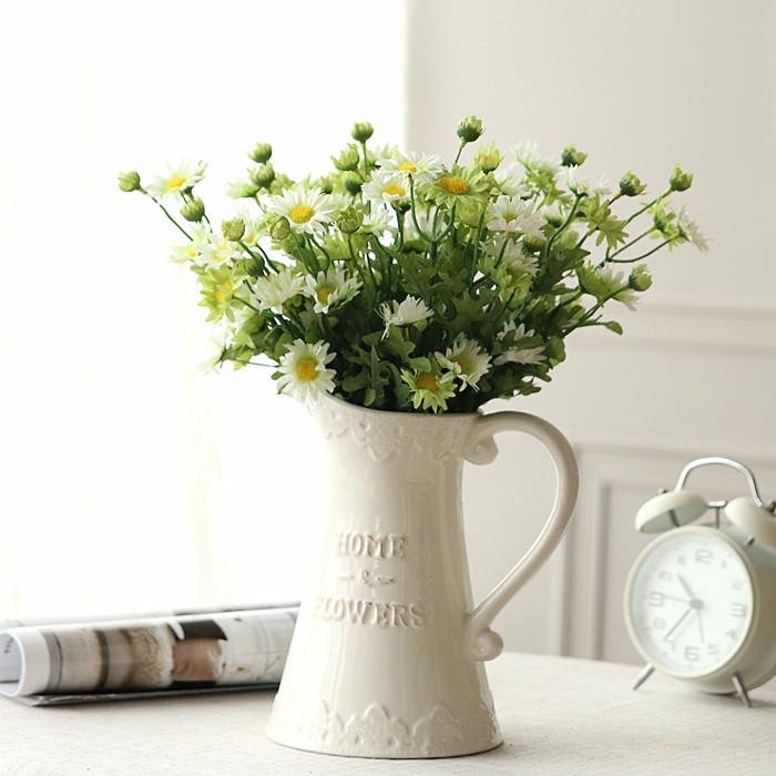 插花花瓶欧式白色陶瓷花瓶摆件花器个性家居创意装饰