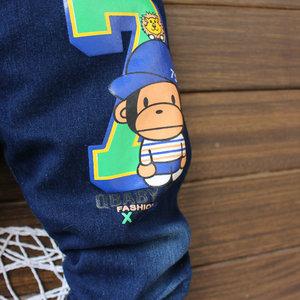 包邮 春秋款儿童牛仔裤女童休闲裤子 女孩单裤宝宝长裤1-2-3-4岁