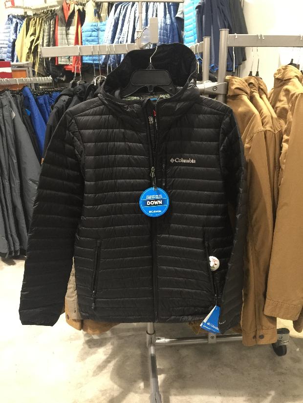 美国代购 Columbia/哥伦比亚 男士羽绒服 连帽保暖外套 热反射