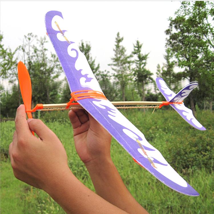科学实验儿童玩具 整套小学生手工制作材料双桨航模橡皮筋飞机