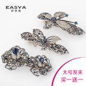 韩国水晶顶夹复古蝴蝶结头发夹头饰发饰饰品横夹弹簧夹大号马尾夹