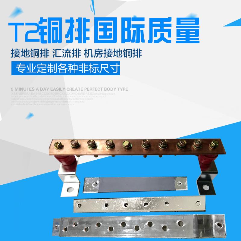T2铜排 汇流铜排 等电位接地铜排 汇流排接线端子  机房接地铜排