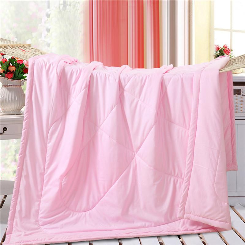 雙人棉被空調水洗純棉薄被簡約純色學生宿舍
