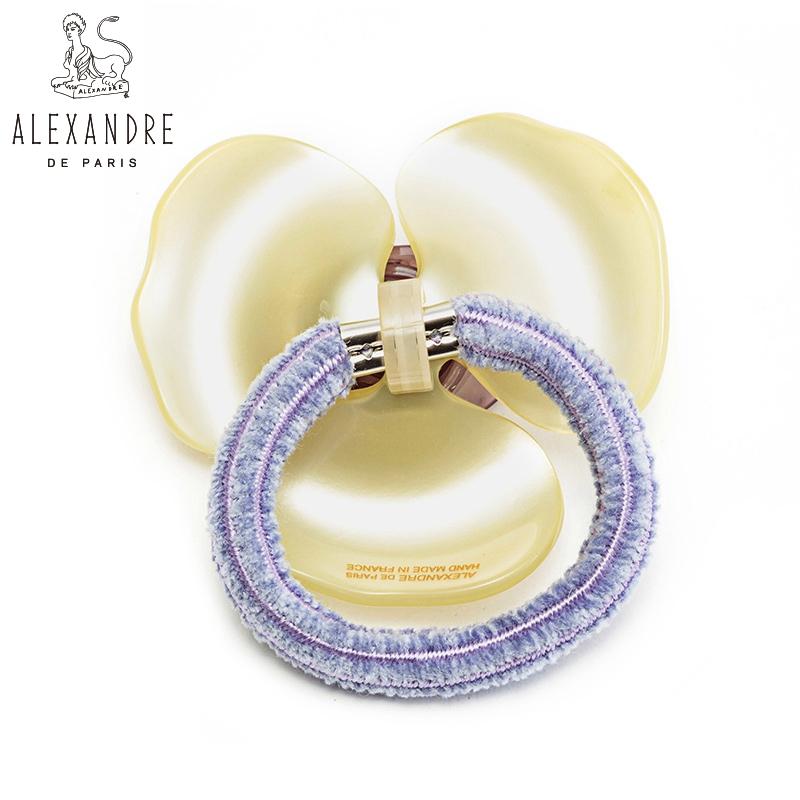 法国Alexandre De Paris亚历山大经典山茶花系列马尾圈发圈发饰品