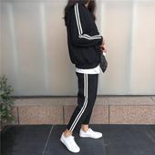 2017新款休闲运动套装女春秋两件套卫衣韩版时尚宽松学生运动服潮