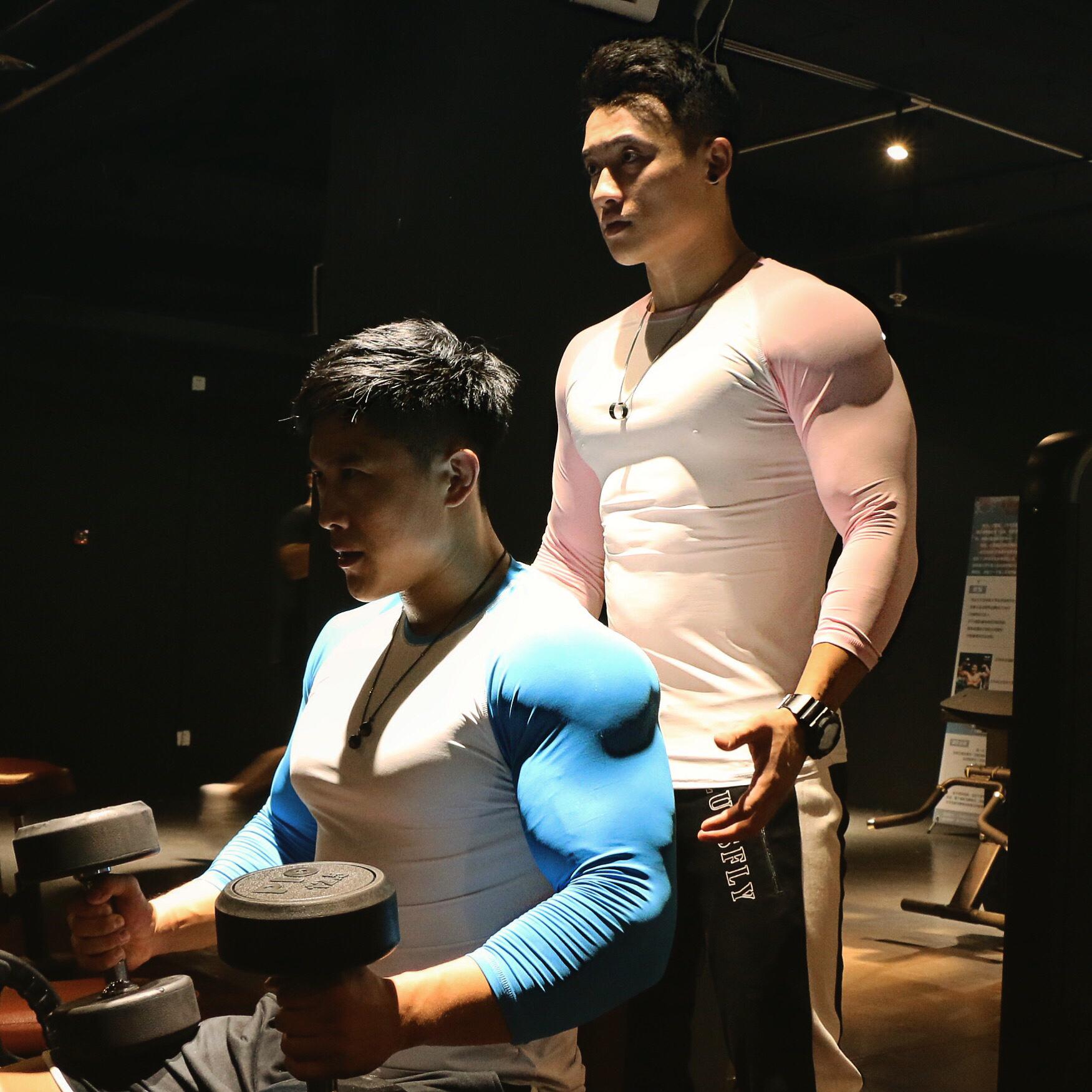 BLUESFLY 健身运动卫衣七分袖T恤男春秋套头衫跑步服保暖透气服