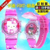 儿童手表防水可爱女款硅胶夜光闪灯小女童玩具卡通男孩学生电子表