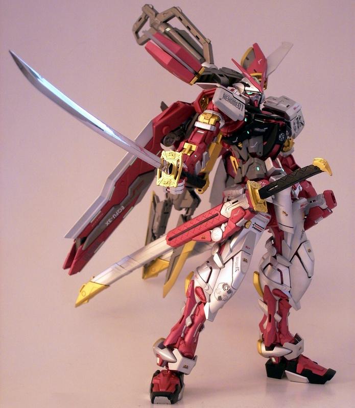 非万代MG 模型1/100红异端高达 命运天使强袭独角兽创战敢达玩具