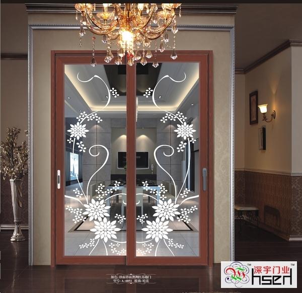 钛镁铝合金凹弧1.2mm客厅餐厅书房移门厨房吊趟门阳台推拉门SD298