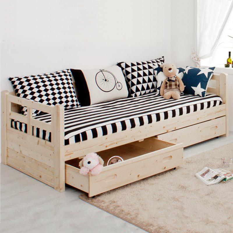 实木沙发床小户型沙发懒人沙发床双人客厅坐卧两用床