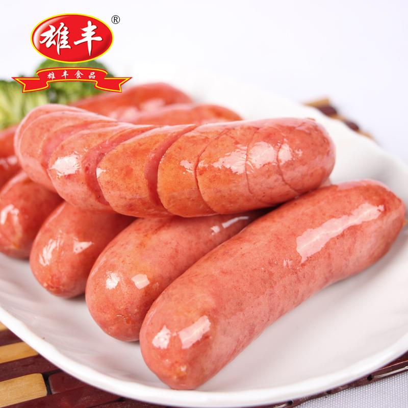 雄丰 热狗香肠原味500g*4袋 台湾风味肉肠手工烤肠 手抓饼热狗肠