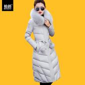 反季清仓2017冬季新款棉服女中长款韩版羽绒棉衣过膝长款修身外套