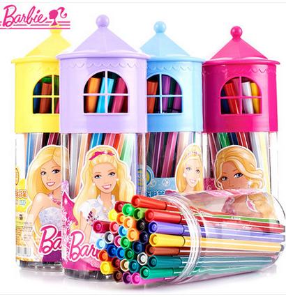 品芭比公主儿童小学生可水洗彩色水彩笔绘画文具12 24 36色