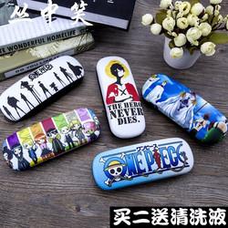 海贼王动漫皮革卡通近视眼镜盒男女款韩国创意个性小清新学生