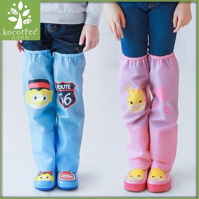 儿童腿套 2017新款雨天防水宝宝雨靴男童女童雨鞋长筒过膝雨鞋套