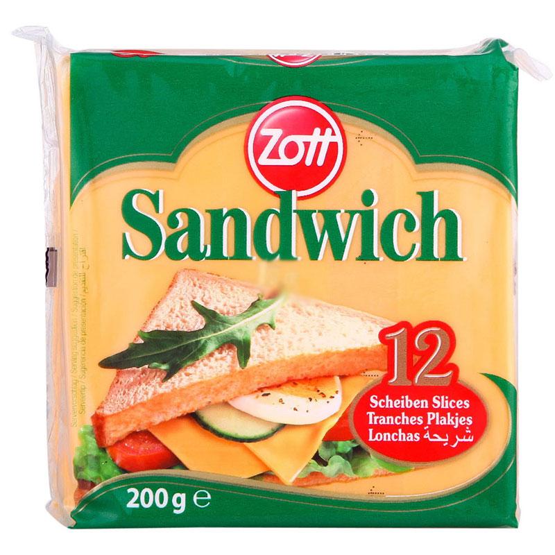 【天猫超市】卓德三明治奶酪片200g(12片装) 冷藏 德国进口