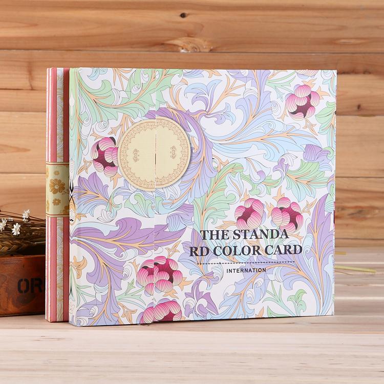美甲色卡本展示板盒样板镶嵌高档色本色板册嵌入式店专用指甲油胶