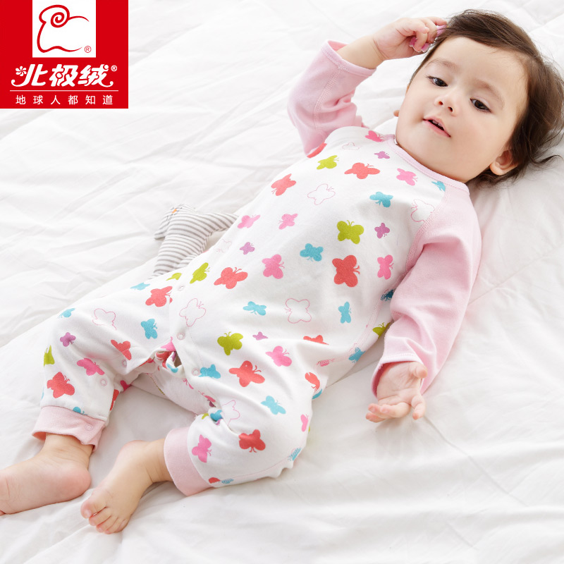 衣服宝宝婴儿新生夏季纯棉薄款哈衣爬爬服夏北极睡衣连体