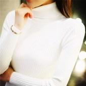 修身 显瘦高领毛衣女套头 打底衫 加厚针织衫 短款 长袖 毛衣女秋冬新款
