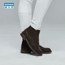 迪卡侬 马术真皮靴 英伦 马靴 男 女 儿童春款  骑士靴 FOUGANZA